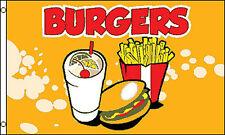 3X5 Ft Burgers Flag Business Advertising Food Banner Sign - yf
