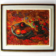 1960 EXQUISITE ABSTRACT STILL LIFE OIL PAINTING MID-CENTURY MODERN ART EAMES ERA