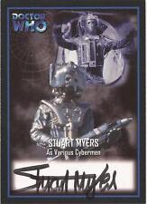 """Doctor Who Definitive Series 2 - AU3 Stuart Myers """"Cyberman"""" Autograph Card"""