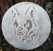 New listing Plastic French Bulldog plaque mold garden ornament plaster concrete mould