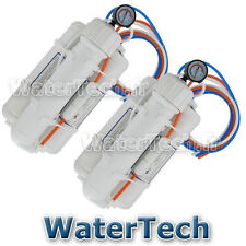 Lot de 2 Osmoseurs aquarium WATERTECH 75GPD (280l/j ) + manomètre + Filtres