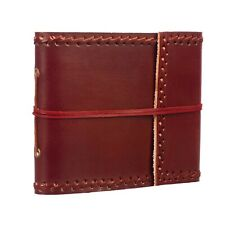 Stitched Leather Photo Album, 30 Pages to fit 60 6x4 Pictures, Scrapbooking