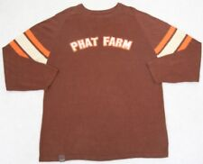 Phat Farm Sweater Brown Orange Cotton Mens Choice Crewneck Solid XL Extra Large