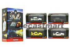 Kyosho 1:64 Initial D Movie Edition Set of 4 Trueno Mazda RX7 Nissan Skyline New