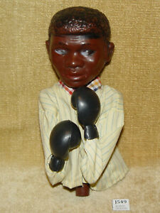 VINTAGE MUHAMMAD ALI CASSIUS CLAY BOXING HAND PUPPET WORKING PUNCHING ACTION KO