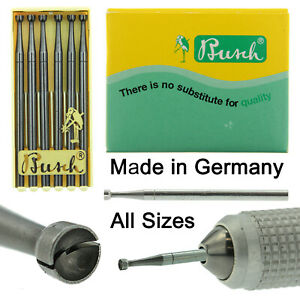Busch Twincut Cup Bur Figure 411T Pack of 6 Jewelry Burs 008-023 Made In Germany