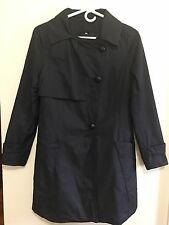 Korean Brand WOMAN'S Single Breasted TRENCH COAT Navy Blue Color Size: M