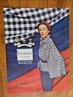 1950 Forstmann 100% Virgin Wool Fashion Ad