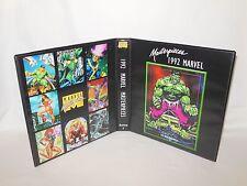 Custom Made 1992 Marvel Masterpieces Series 1 Trading Card Binder Hulk