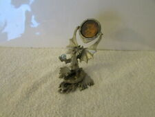 Sunglo Pewter Winged Dragon Serpent Holding Crystal Ball Hologram Mirror # 6