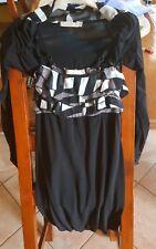 Vestito nuovo Artigli tg S 40 42 coprispalle nero tubino volant bianco completo