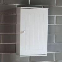 Priano Bathroom Cabinet Wall Mounted Single Door Cupboard Wooden Storage White
