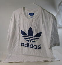 new ADIDAS  WHITE TREFOIL LOGO  TEE  100% Cotton SIZE  XL  ***