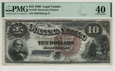 """1880 $10 LEGAL TENDER NOTE FR.108 """"JACKASS""""  PMG EXTREMELY FINE XF 40 (592)"""