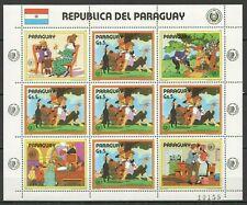 EC125 1985 PARAGUAY ART ANIMATION MARK TWAIN TOM SAWYER MICHEL 24 EURO 1KB MNH