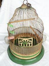 ANTIQUE PRIMITIVE CROWN DOMED BIRD CAGE HENDRYX FEEDER 1934 CIRCA ORIGINAL PAINT