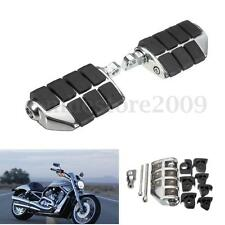 Pair Chrome Motorcycle Dually Foot Rest Pegs Pedal Mount For Harley Davidson