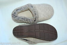 Womens Dearfoam Slippers OATMEAL GRAY In/ Outdoor COMFORT CUSHION Slip On L 9-10