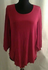 Citiknits top Large Red Slinky travel knit New stretchy