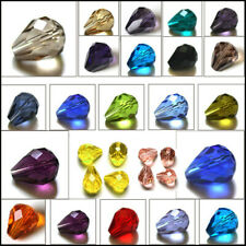 Beads Rhinestone Crystal Loose Spacer Teardrop Faceted Glass 7x5mm 12x8mm