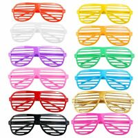 12 Pairs Shutter Shades Glasses Sunglasses Party Photo Props Plastic UK SUPPLER