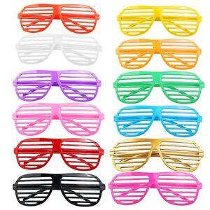 12 Pairs Shutter Shades Glasses Sunglasses Party Photo Props Plastic UK SUPPLER