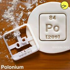 Polonium cookie cutter | periodic table element science party radioactive geeky