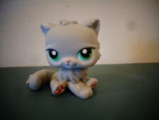 LITTLEST PET SHOP LPS GREY PERSIAN GRAY CAT #82 GREEN EYES