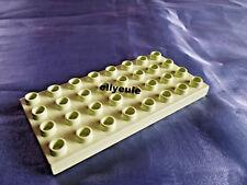 Lego Duplo Bau Grund Platte 8 x 4 lind - grün ( light lime ) aus Prinzessin 4822