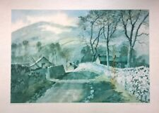 SAM CHADWICK Road to Thorpe in the Hollow, Yorkshire Dales No 1/259 Signed Print
