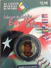 MEDALLA CLASICO MUNDIAL DE BEISBOL 2006 BERNIE WILLIAMS PUERTO RICO
