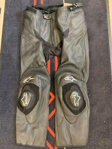 Alpinestars Missile Leather Motorcycle Trousers EU 56 UK 38-40 Black