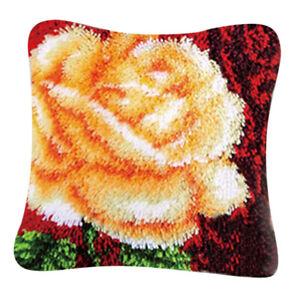 Knüpfkissen Blumen Knüpfpackung zum Selbstknüpfen eines Kissens /