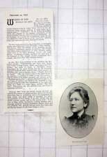 1897 Miss Beatrice Gibbs Graduate Of St John's Wood School Of Art