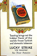 Lucky Strike Cigarettes THROAT PROTECTION 1927 MEDICAL TOBACCO Ad Matted