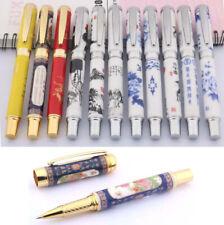 Jinhao 950 Rollerball Pen, Ceramic Porcelain Painting Designs, Black Ink