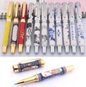 Jinhao 955 Rollerball Pen, Ceramic Porcelain Painting Designs, Black Ink