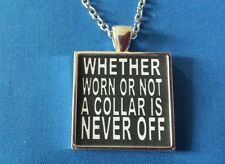 BDSM JEWELRY Necklace * Collar Never Off * Owned Collared Master Sir Dom