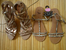 BUNDLE NEW BARRATTS PRIMARK high heel SHOES SANDALS size 5/6 5 AND SIZE 6