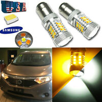High Power 1157 LED Switchback Turn Signal Parking Light For Nissan Quest Rogue