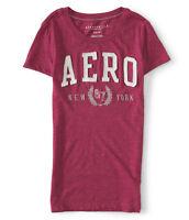 Aeropostale Womens T-Shirt Slim Fit Aero Wreath Graphic Tee M or L Magenta NWT