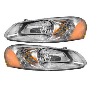 Pair Set Headlight Headlamps Assembly for Chrysler Sebring Dodge Stratus Sedan