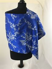 ASOS Tall Womens Oriental Style Blue Over Shoulder Throw - Size 10