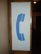 "VTG PAY PHONE TELEPHONE BOOTH DECAL STICKER SIGN LRG 29"" X 11"" HEAVY DUTY VINYL"