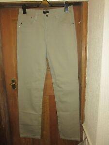 new without tags designer giorgio armani beige cotton jeans,34 w,33 leg