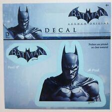 "Batman Arkham Origins Car Window Sticker Decal 5"" PLUS 2nd Sticker Logo Licensed"