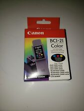 Canon BCI-21 Tricolor Ink LOT of 4