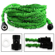 100 Feet 100FT Expandable Flexible Garden Lawn Water Hose Nozzle Green 200+SOLD