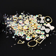 3D NAIL Art Colorful Rhinestone micro Crystal Beads Sharp Bottom Gemstone Circle