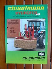 STRAUTMANN Hydrofox HD - Silo-Blockschneider - Prospekt Brochure 1991 (0580
